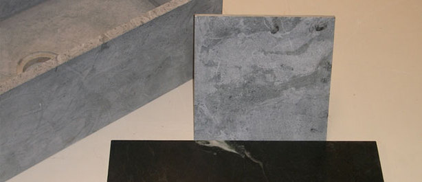 Soapstone tiles can be used for your fireplace surround.