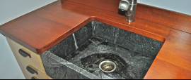 This New Hampshire soapstone sink is easy to clean as well as one of the best options for your kitchen.